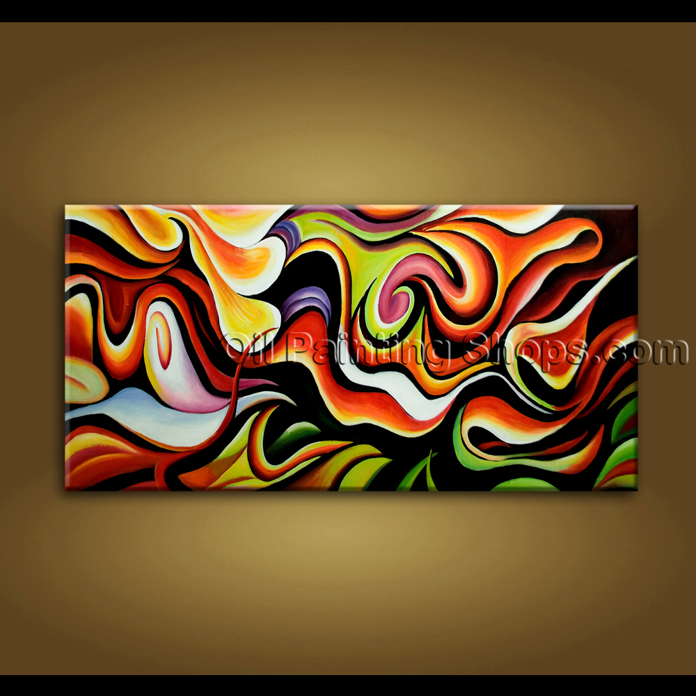 Original unique hand painted oil painting on canvas modern Unique wall art
