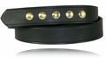 """Boston Leather 1-1/2"""" Five Snap Leather Belt"""