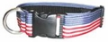"Boston Leather 1-1/2"" K-9 Nylon Patriotic Collar"