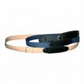 "Boston Leather 1-1/4"" Cotton Web Belt w/ Adjustable Hook and Loop Closure"
