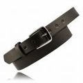 "Boston Leather 1-1/4"" Off Duty Leather Belt without Embossing Lines"