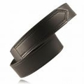 """Boston Leather 1-3/4"""" Tipped Hook and Loop Leather Belt"""