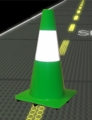 """18"""" Lime Reflective Road Cones"""