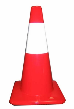 "18"" Road Safety Cone with Reflective Stripe"