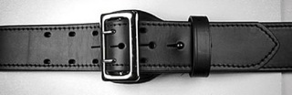 """Boston Leather 2 1/4"""" Fully Lined Sam Browne Leather Belt"""