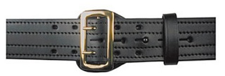 "Boston Leather 4-Row Stitched, 2-1/4"" Sam Browne Leather Belt"