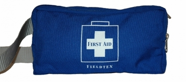 2 POCKET FANNY PACK FIRST AID KIT - BLUE