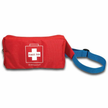 2 POCKET FANNY PACK FIRST AID KIT - RED