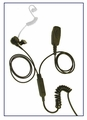 2-Wire Surveillance Earpiece with PTT Microphone