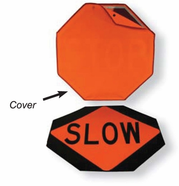 "24""  STOP/SLOW Traffic Safety Sign with Tele Pole"