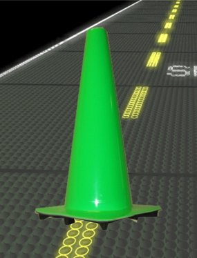 "28"" Lime Road Cone"
