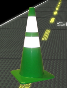 "28"" Reflective Lime Road Cones"