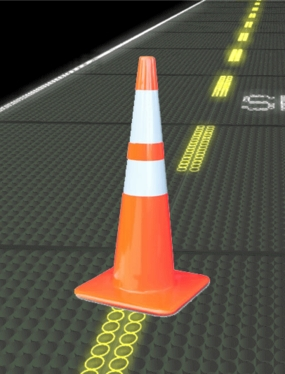 "28"" Standard Road Cone with Reflective Strips"