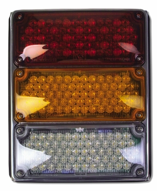Weldon Tri: 3X7 Lamps, LED Stop & Tail, Amber Seq Turn & Backup-LH