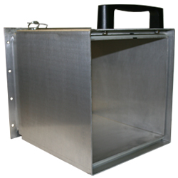"30-1/2"" Extendable aluminum chute-12"" base - 3 section"