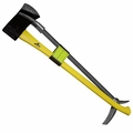 "30"" Halligan 6lbs Flat Axe,Yellow Fiberglass Handle w/Strap"