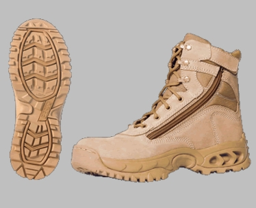 3003Z Desert Storm Zipper Quarter Boot
