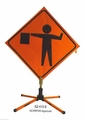 "36"" DOT Orange Portable Traffic Signs"