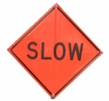 "36"" Reflective Roll Up SLOW Sign"