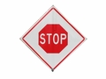 "36"" Reflective Roll Up STOP sign"