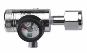 50 PSI CGA540 Pressure Reducer (2 DISS Power Take-Offs) Oxygen Regulator