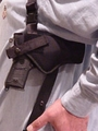 502013BLKM - MED LASER HORIZONTAL SHOULDER HOLSTER