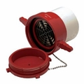"6"" PVC FEMALE DRY HYDRANT ADAPTER W/PLUG"