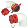 "6"" PVC FEMALE DRY HYDRANT ADAPTER W/PLUG & ELBOW"