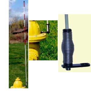 60 Quot Top Mount Fire Hydrant Marker With Spring
