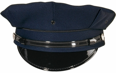 8 PT. NAVY BLUE POLICE/SECURITY CAP