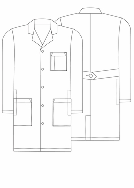 "Adar Universal 39"" Lab Coat With Inner Pockets"