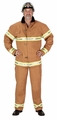 Adult Fire Fighter Costume Suit (tan)