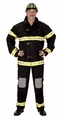 Adult Fire Fighter Suit, with Helmet (black)