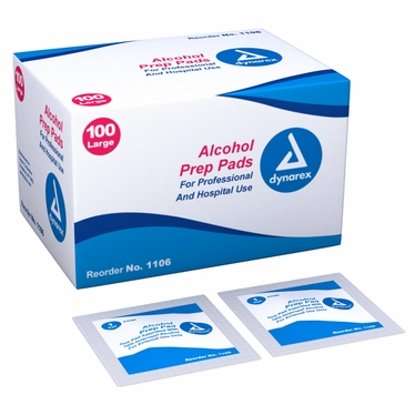 Alcohol Prep Pad, Large - 100 count