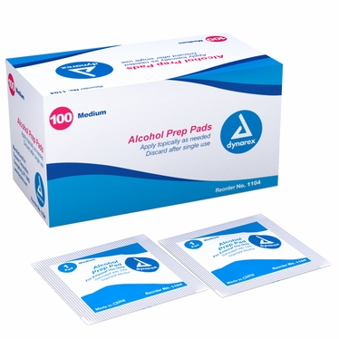 Alcohol Prep Pad, Medium - 20bx/100ct