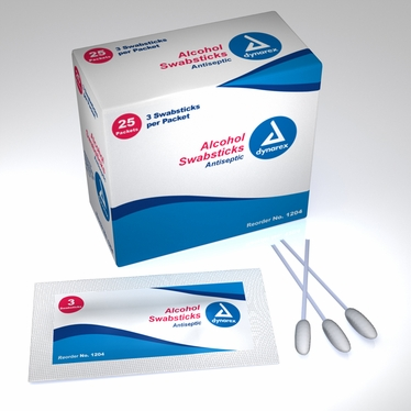 Alcohol Swabsticks 3's - 25 Count