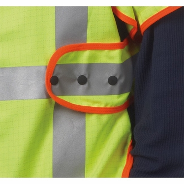 Anti-Static Vest with Adjustable Snap Sides