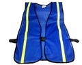 "Blue Safety Vest with 3/4"" Reflective Striping"