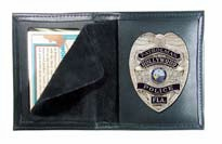 Boston Leather Book Style Badge Case