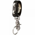 Boston Leather Ballistic Weave Belt Keeper with Swivel Key Snap
