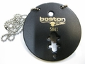 Boston Leather Circle Badge Holder with Chain