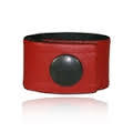 Boston Leather Cord Keeper for our Radio Strap, Red Leather
