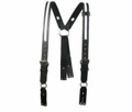 Boston Leather Firefighter's Leather Suspenders w/ Reflective 9175R