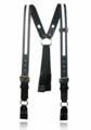 Boston Leather Firefighter's Leather Suspenders w/ Reflective (Loop Attachment) 9177R