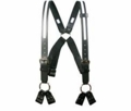Boston Leather Fireman's Suspender w/ Reflective (8-Point Loop Attachment) 9174R