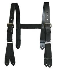 Boston Leather High Back Firefighter's Suspenders 9178
