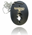 Boston Leather Oval Badge Holder for Shield Shaped Badges