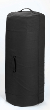 Canvas Duffle Bag with Side Zipper