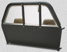 Center Sliding Lexan Window with Recessed Panels Vehicle Partiton