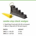 Combo Step Chock Wedges